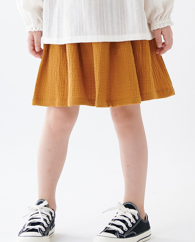 BASIC EASY SKIRT_COTTON DOUBLE GAUZE