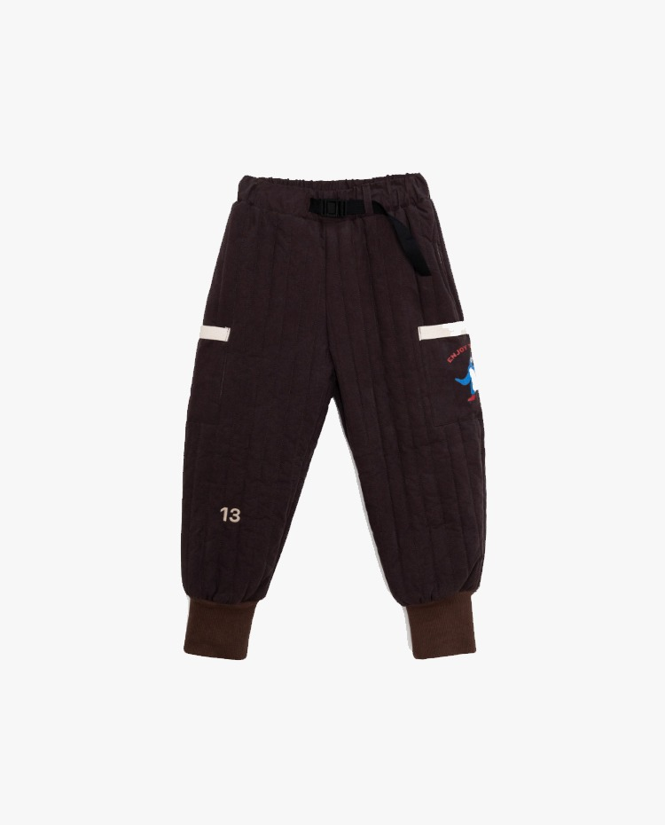 Quilted padding pants - Brown