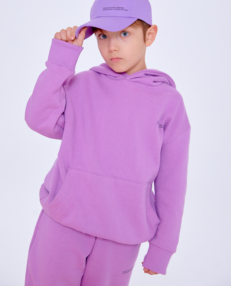 KIDS AUTHENTIC HOODIE(AUTHENTIC PURPLE)