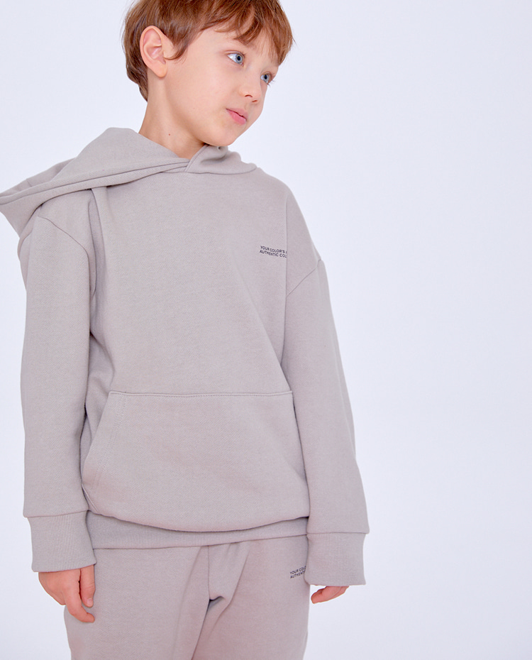 KIDS AUTHENTIC HOODIE(WARM GREY)