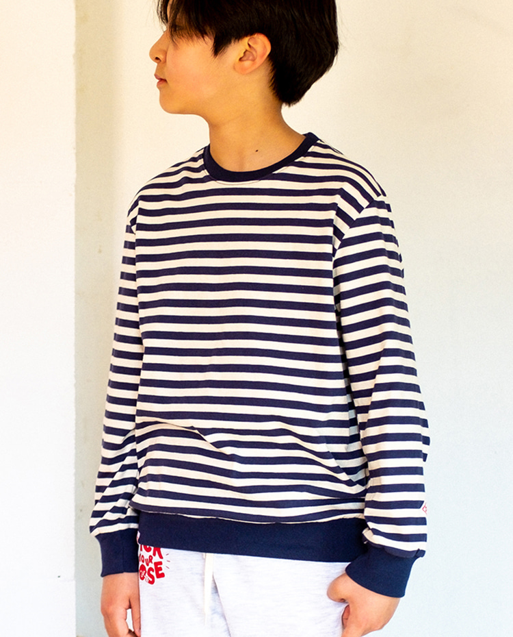 STRIPES L/S SHIRTS - NAVY