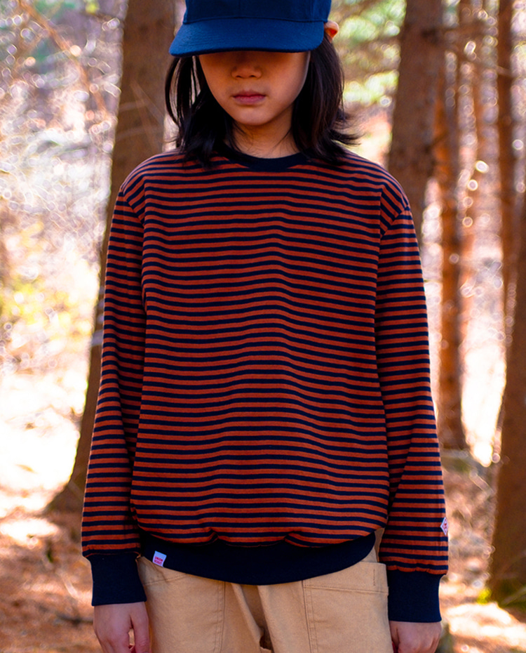 STRIPES L/S SHIRTS - BROWN